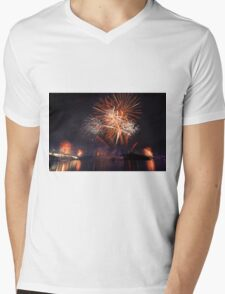 Fireworks in Brisbane Mens V-Neck T-Shirt