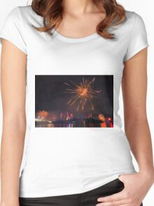 Fireworks in Brisbane Women's Fitted Scoop T-Shirt