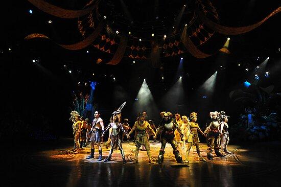 A Scene From The Lion King Show. Disneyland, Hong Kong. by Ralph de Zilva