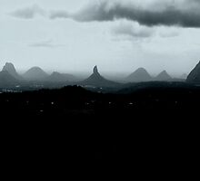 Glasshouse Mountain storm by Nick Milton