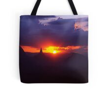 Glasshouse mountains sunset Tote Bag