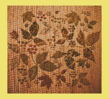 Rustic Chenille with Autumnal Print One Piece - Short Sleeve