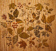 Rustic Chenille with Autumnal Print by PrivateVices