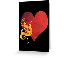 Kazart Phoebe 'Paint it Red' Greeting Card