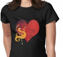 Kazart Phoebe 'Paint it Red' Womens Fitted T-Shirt