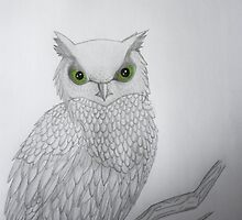 Green Eyed Owl by ScarlettRuby