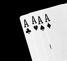 Black and white playing cards. by Rob D