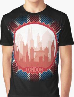 London City Skyline - black Graphic T-Shirt