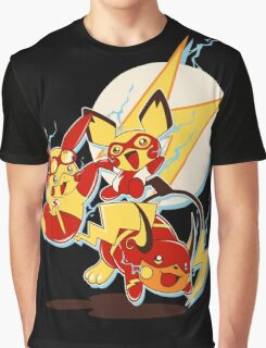 Rai Flash, Pika Flash and Impichu Graphic T-Shirt