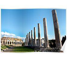 Colesseum and Pilars of the Antiquarium Forense Poster
