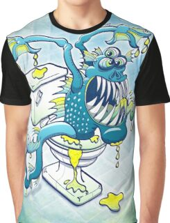 Toilet Monster Graphic T-Shirt
