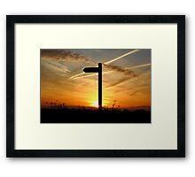 Sunrise Flights Framed Print