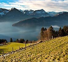 View of Lake Lucerne from Mt Rigi railway by PhysioDave