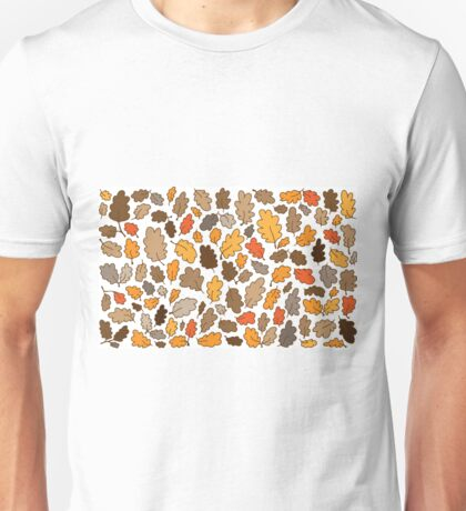 Oak leaves autumn Halloween Thanksgiving boho woodland forest nature natural Unisex T-Shirt