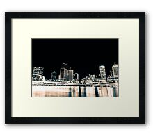 Brisbane City Night Sky Framed Print