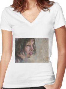 Matilda - Leon - The Professional - Natalie Portman Women's Fitted V-Neck T-Shirt