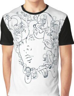 Medusa // The year of the Snake (Gorgoneion, Blue Drawing) Graphic T-Shirt