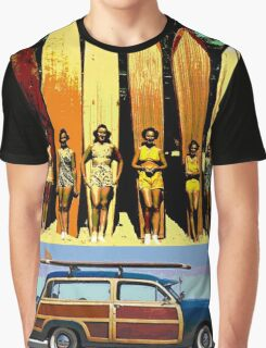 Cool Babes & Hot Rod Graphic T-Shirt