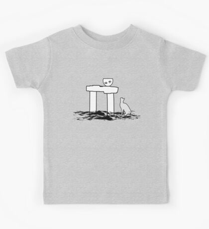 Cat and fish Kids Tee