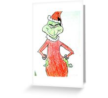 The Grinch Drawing Greeting Card