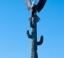 Bald Eagle on Sequoia Cactus by barnsis