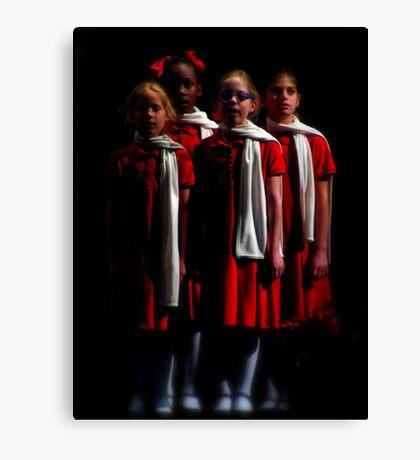 Christmas Choir Canvas Print