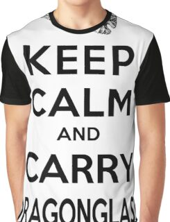 Keep Calm: Dragonglass (Black) Graphic T-Shirt