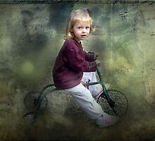 Alisa on her Great Aunts Tricycle by Bine