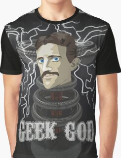 Nikola Tesla: Geek God Graphic T-Shirt