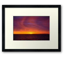 Rain in the sky Framed Print