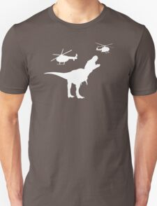 Tyrannosaurus Rex Helicopter Fight T-Shirt