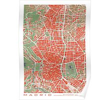 Madrid city map classic Poster