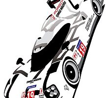 Porsche 919 2015 Le Mans 24hr Winner Hulkenberg, Tandy, Bamber by F1Profiles