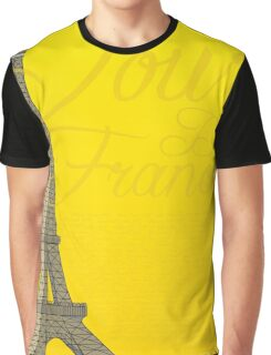 Tour De France Eiffel Tower Graphic T-Shirt