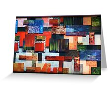 SHAPES COLOUR AND TEXTURE Greeting Card