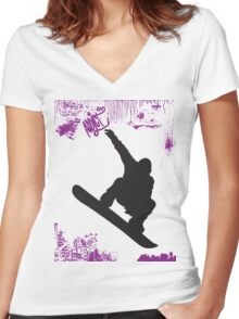 xtream sports Women's Fitted V-Neck T-Shirt