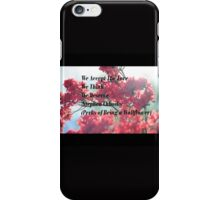 We Accept  iPhone Case/Skin