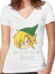The Legend of Zelda The big mistake Women's Fitted V-Neck T-Shirt