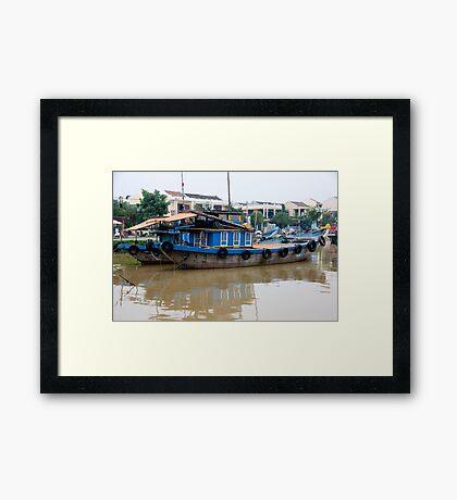 Barge Life  Framed Print