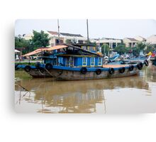 Barge Life  Canvas Print