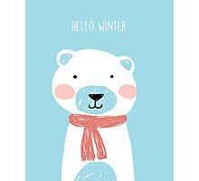 Hello winter- Mr. Bear Photographic Print