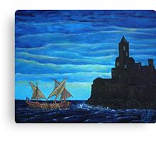Oil Painting - The Legend of the Ship with the Golden Oars Canvas Print