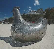 Chicken @ Sculptures By The Sea 2010 by muz2142