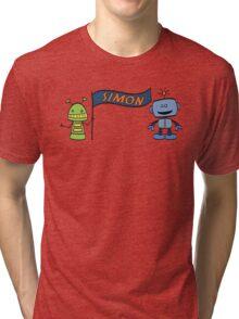 simon w robots Tri-blend T-Shirt