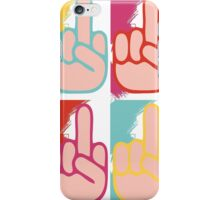 Fuck you (Andy Warhol style) iPhone Case/Skin