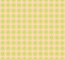 Floral pattern in beige and yellow colors by Ederella