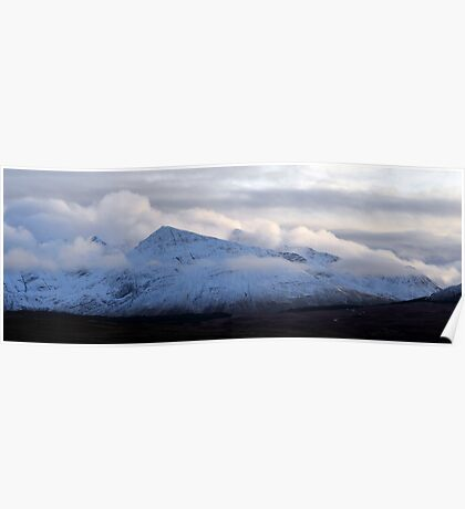Black Cuillin Wreathed in Cloud Poster