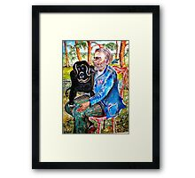 Homeless Fernand and Company Framed Print