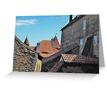 Old Walls New Tiles Greeting Card