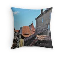 Old Walls New Tiles Throw Pillow